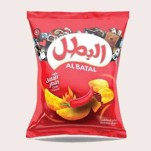 Al Batal Potato Chips-Chilli